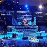 Lenny Kravitz doing his thing on the DNC stage
